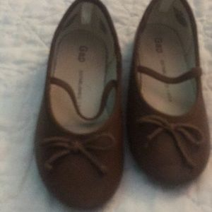 Girls leather cognac Mary Janes